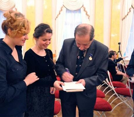 После концерта «Дифирамб маэстро». Международный форум отрусского «Серебряного века» к«новому Ренессансу» (к80-летию содня рождения С.М. Слонимского)