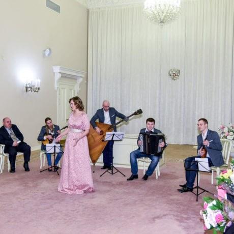 Чествование юбиляров супружеской жизни, дворец бракосочетания №3, Россия. г.Пушкин